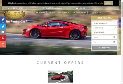 Site internet de Elite Rent a Car