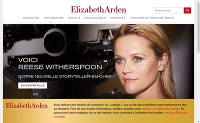 Site internet de Elizabeth Arden (France)