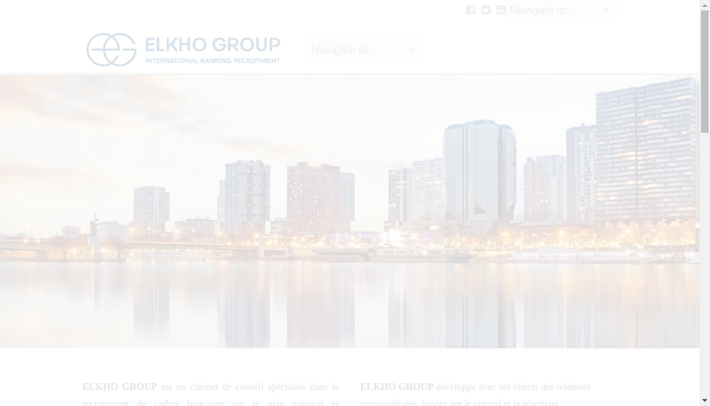 Capture d'écran du site de Elkho Group