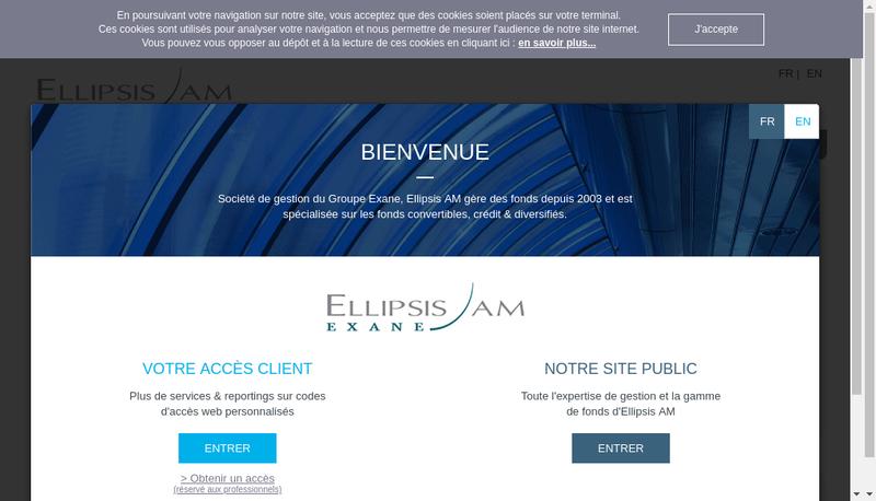 Capture d'écran du site de Ellipsis Asset Management