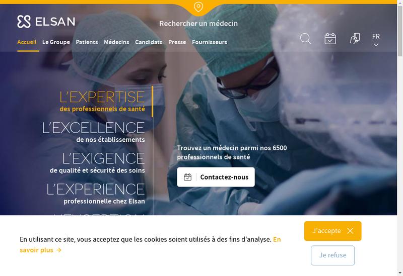 Capture d'écran du site de Sae Clinique du Fief de Grimoire