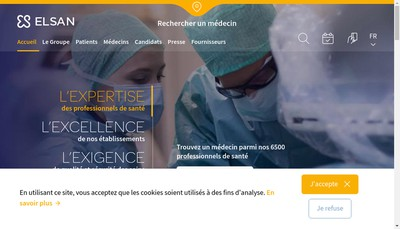 Site internet de Clinique Saint Andre