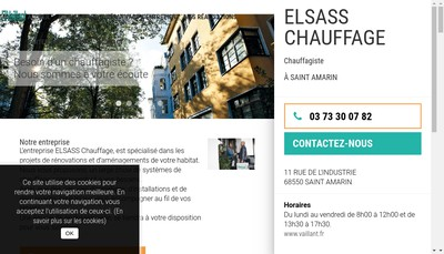 Site internet de Elsass Chauffage