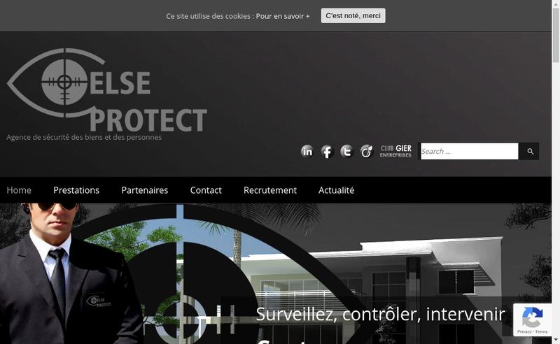 Capture d'écran du site de Else Protect