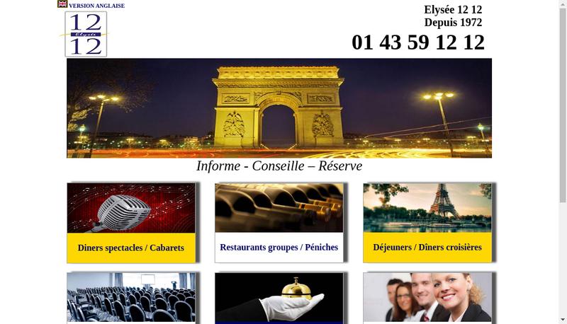 Capture d'écran du site de Aaa Ely 12 12 3615 Ely 12 12 Resto Med