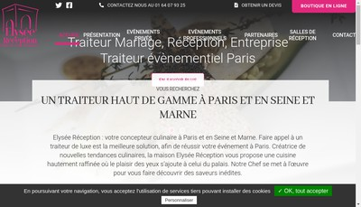 Site internet de Elysee Reception