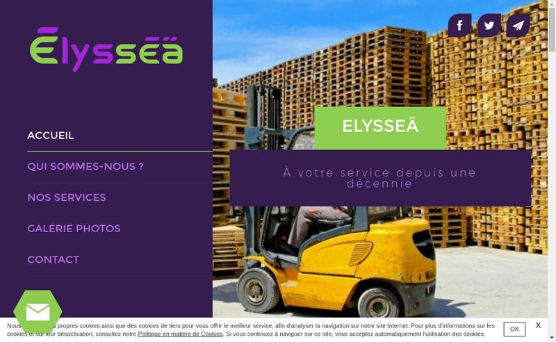 Capture d'écran du site de Elyssea