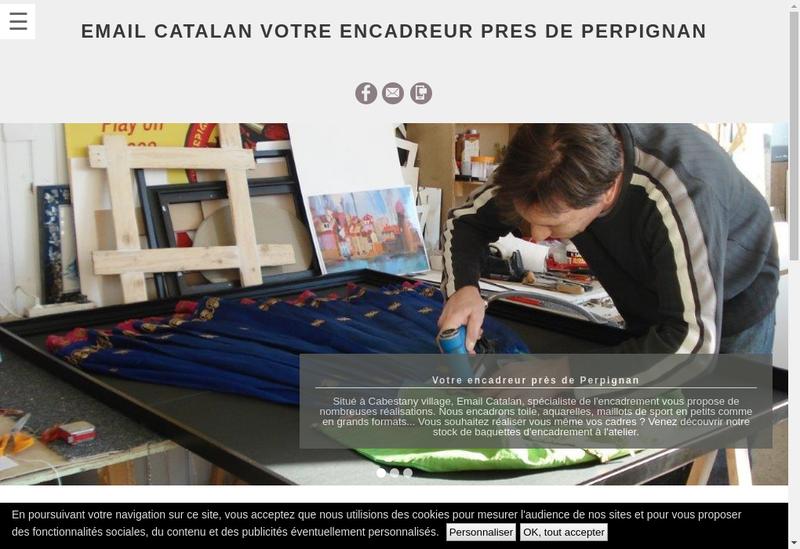 Capture d'écran du site de Email Catalan SARL