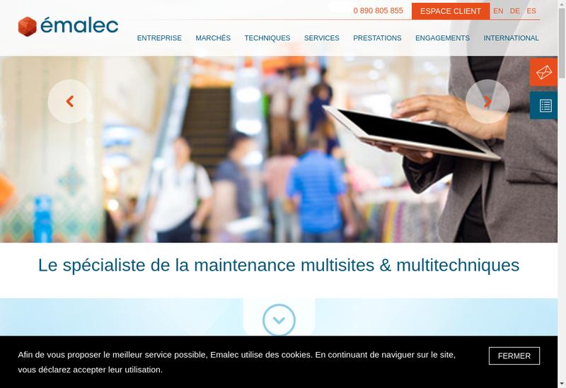 Capture d'écran du site de Fitelec Service