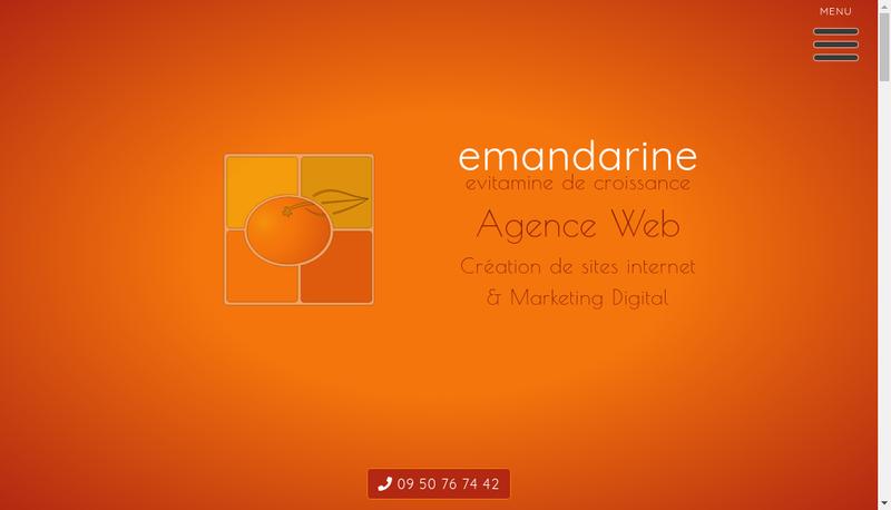 Capture d'écran du site de Emandarine