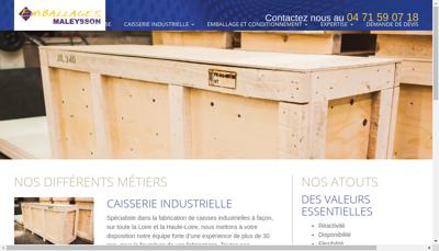 Capture d'écran du site de Emballages Maleysson