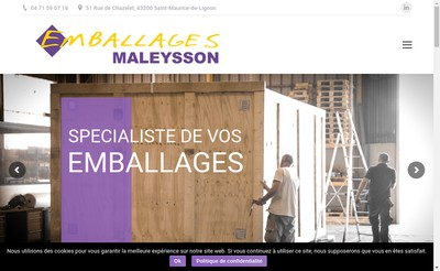 Site internet de Emballages Maleysson