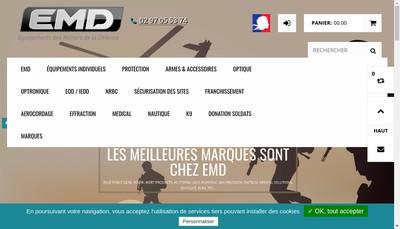 Site internet de Equipement des Metiers de la Defense - Emd