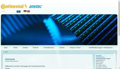 Site internet de Emitec France SAS