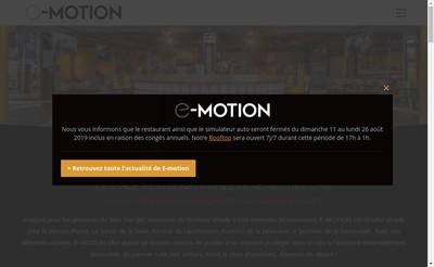 Site internet de E-Motion Annecy