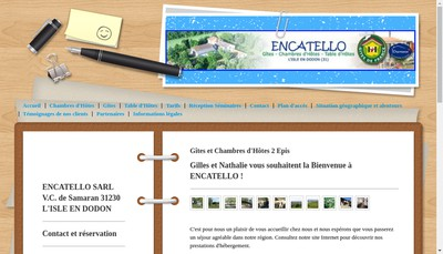 Site internet de Encatello