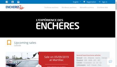 Site internet de Toulouse Encheres Automobiles