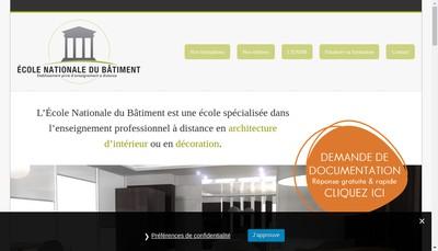 Site internet de Ecole Nationale du Batiment