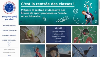 Site internet de Energy Kids Academy