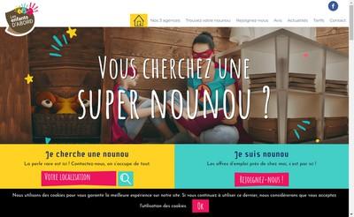 Site internet de Les Enfants d'Abord
