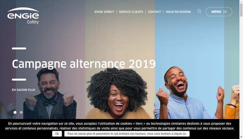 Capture d'écran du site de Engie ES