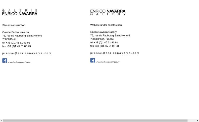 Site internet de Galerie Enrico Navarra