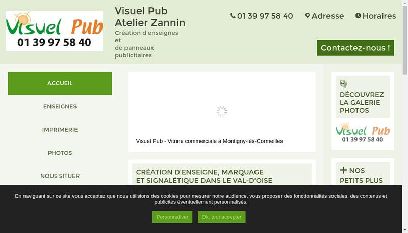 Capture d'écran du site de Atelier Zannin