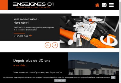 Site internet de Enseignes 01