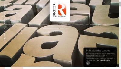Capture d'écran du site de Enseignes Richier