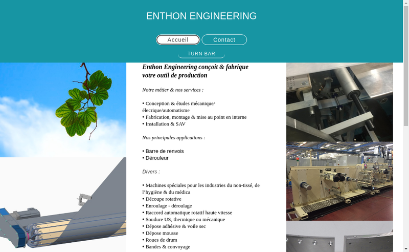 Capture d'écran du site de Enthon