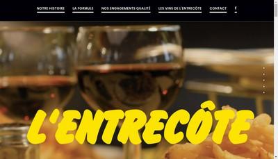 Site internet de L'Entrecote