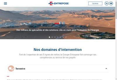 Site internet de Entrepose Contracting