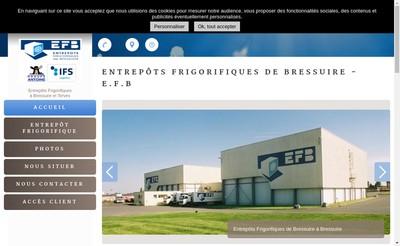 Site internet de SA Entrepot Frigorifique de Bressuire