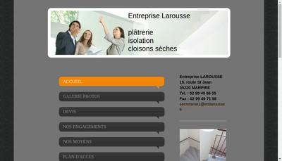 Site internet de Entreprise Larousse