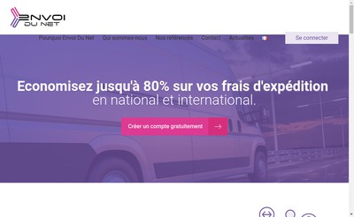 Site internet de Easy Shipping Envoi du Net