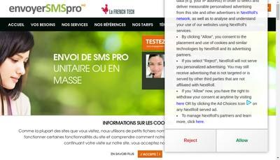 Site internet de Envoyer Sms Pro