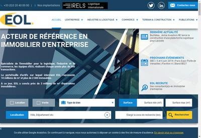 Site internet de Eol Commerce