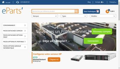Site internet de Electronic Parts Eparts