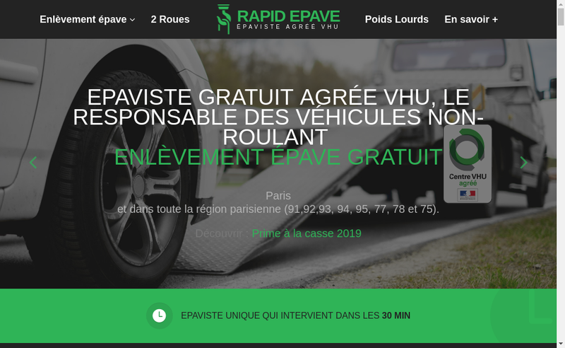 Capture d'écran du site de Km Auto