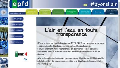 Site internet de Entreprise Parisienne de Fumisterie et de Desinfection