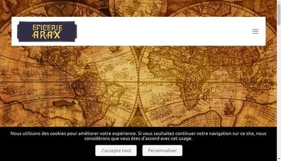 Site internet de Epicerie Arax