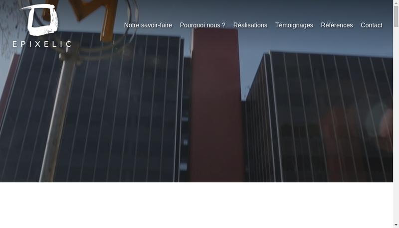 Capture d'écran du site de Epixelic