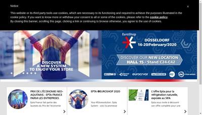 Site internet de Epta France SAS