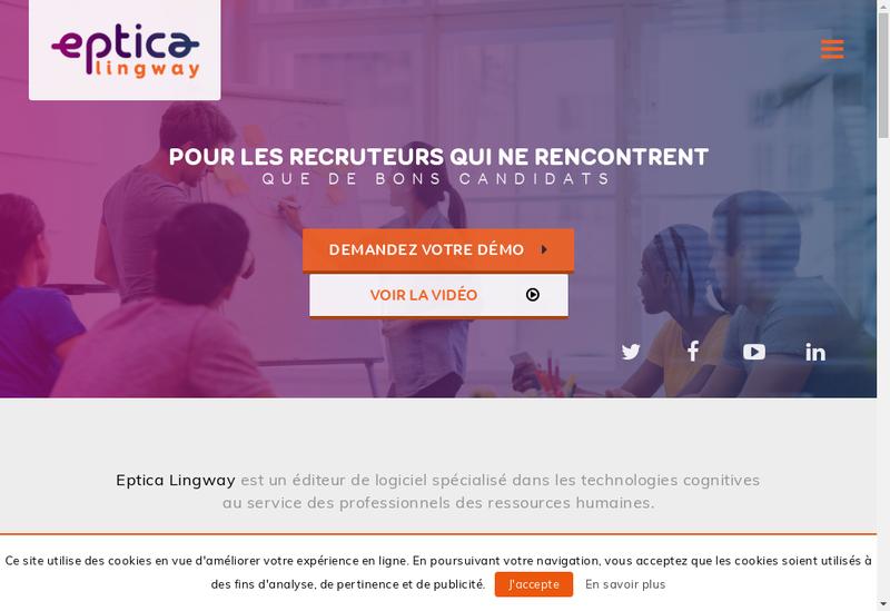 Capture d'écran du site de Eptica-Lingway