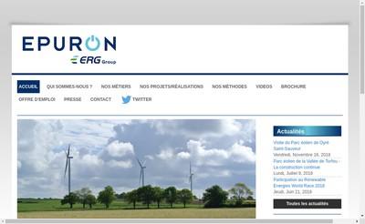 Site internet de Epuron