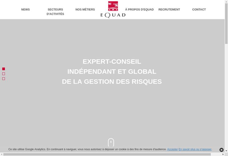 Capture d'écran du site de Equad Rcc
