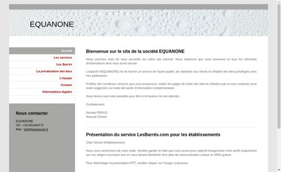 Site internet de Equanone
