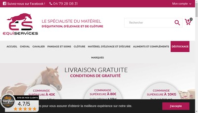 Site internet de Cheval Passion