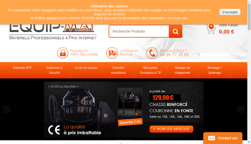 Capture d'écran du site de Occamat-Tp
