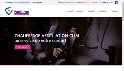 Site internet de Equipements Vonthron